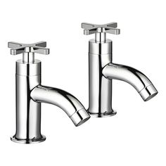 Shop the Mira Revive bath pillar taps in polished chrome. Their beautiful timeless design is suited to both traditional and modern baths| Model 2.1819.003