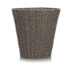 Rope Waste Paper Bin - Grey | Home | George