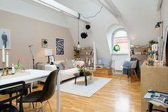 My dream apartment: attic apartment sweden design Stockholm Attic Apartment Blends Scandinavian Ease With Elegant Interiors
