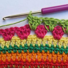 Crochet Along Regenbogen Babydecke Teil 7