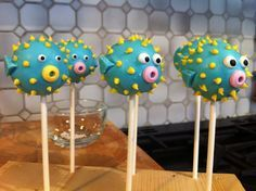 Puffer Fish Cake Pops  Abby's Birthday Pops [[=