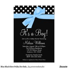 Navy Pink Bow Polka Dot Baby Shower Invitations X Invitation Card Custom Baby Shower Invitations, Baby Shower Invitation Cards, Pink Invitations, Bow Baby Shower, Baby Shower Invites For Girl, Baby Boy Shower, Do It Yourself Baby, Invitation Examples, Gold Baby Showers