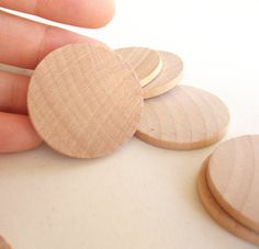 75 Unfinished Wooden Circles 1.50 by dreamsncandies on Etsy, $8.00