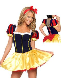 Ladies sexy snow white disney fancy dress costume outfit  will fit size 8-10 8634616b7