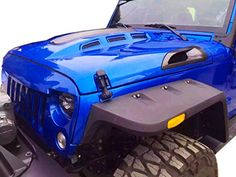 GENSSI Custom Avenger Hood for Jeep Wrangler JK This hood is made from high quality steel. Designed to fit your Jeep Wrangler 2007-2016. The Vents are made from ABS plastic. Requires an additional water spray nozzle (OEM type) The side blades need to be glued in place. 2007-2015 Jeep Wrangler JK & Unlimited 2/4 Door …