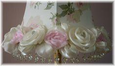 Rose bordered lamp shade