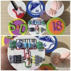 Todos tus gustos se te hace una dulce realidad #domiciliosbogota #cupcakesbogota #cupcakes guitarra #cupcakes cerebro #cupcakes ingeniero electrónico #cupcakes millonarios