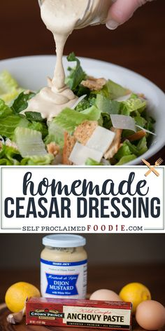 Low Carb Recipes To The Prism Weight Reduction Program My Family Loves Ceasar Salad, And Making My Own Homemade Ceasar Dressing From Scratch With Anchovy Paste, Egg Yolk, Lemon And Olive Oil Was Incredibly Easy Homemade Ceasar Salad Dressing, Chicken Ceasar Salad, Salad Dressing Recipes, Salad Recipes, Salad Dressings, Easy Ceasar Dressing, Cesar Dressing, Salad, Kitchens