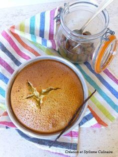 Gâteau sans gluten ni beurre à la compote de pomme, parfumé à la vanille et au rhum, www.jecuisinesansgluten.com