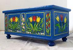 Tulipános láda - Festett bútor ||| Art Dekor SCSK