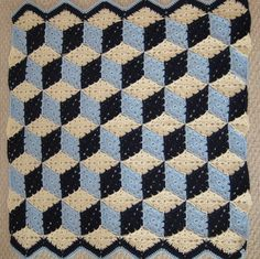 Tumbling Blocks Crochet Afghan Pattern Free : Crochet Prairie Star on Pinterest Baby Blocks, Tumbling ...