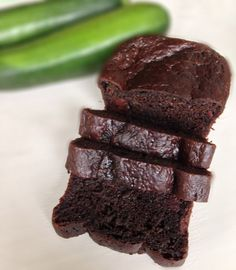 Chocolate zucchini bread!  Greek yogurt replaces most of the fat, making it healthy but still rich and delicious