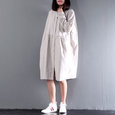 Women autumn clothing  loose shirt dresses single by Aliceswool
