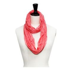 Peach Shimmer Infinity Scarf