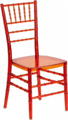 Flash Furniture Flash Elegance Crystal Crimson Stacking Chiavari Chair NEW #FlashFurniture