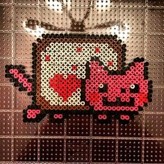 Love Nyan Cat perler beads by ryleesadler
