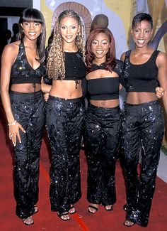 Sept. 3, 1999 - Beyonce (here, with original Destiny's Child members LeToya Luckett, LaTavia Robertson and Kelly Rowland at the 5th Annual Soul Train Awards in Santa Monica)