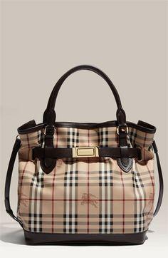 Burberry Belted Check Print Shoulder Bag | Nordstrom $1,295.00