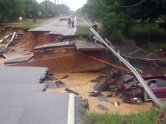 Woman grateful to be alive after road collapse