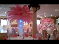 VIP table feather centerpiece