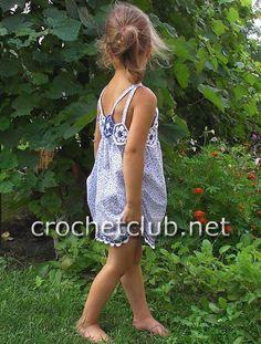 Modele robe fille crochet gratuit