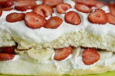 Yummy strawberrycake Finland, Cheesecake, Desserts, Food, Tailgate Desserts, Meal, Cheese Cakes, Dessert, Eten