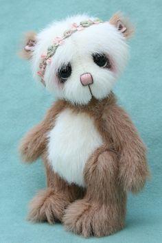 "chun-tao 4.75"" bear, miniature artist bear by Jane Mogford - Pipkins bears- available now over at www.teddiesworldw..."