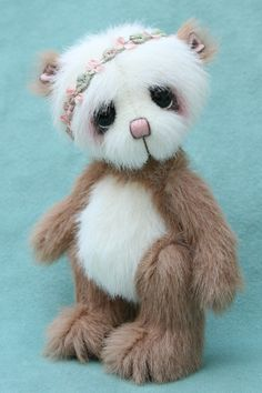 "chun-tao 4.75"" bear, miniature artist bear by Jane Mogford - Pipkins bears- available now over at www.teddiesworldw..."