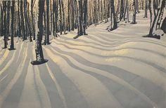 3 color reduction print    shadowsprint by Hannah Skoonberg, via Flickr