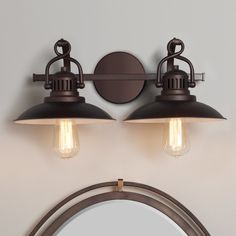 Station Lantern Bath Light - 2 Light bronze