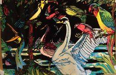 #70s #Vintage BLACK LIGHT Poster BIRDS #blacklight
