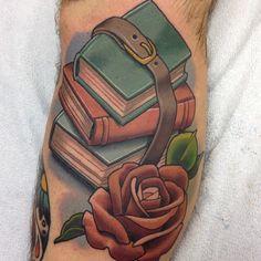 Stack of #books by steve roberts @stevetattoos #riseaboveorlando #booktattoo #rosetattoo #orlando #mills50 #readabook #tattoo @stevetattoos