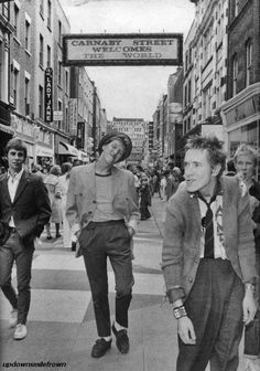 The Sex Pistols on Carnaby Street