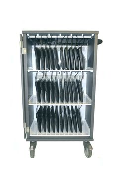 Charging Cart for 30 Chromebooks or tablets. Univault-30 Chromebook Cart offers highest level of security in industry while charging your devices.