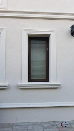 House Main Gates Design, House Window Design, House Outside Design, House Ceiling Design, Bungalow House Design, House Front Design, Exterior Window Molding, Exterior Doors, Window Molding Trim