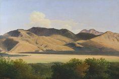 Josephus Augustus Knip (Tilburg 1777-1847 Berlicum) Landscape near Palestrina with Monte Cavo
