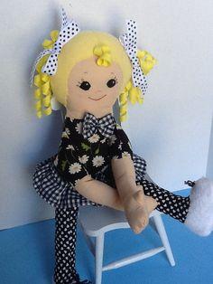 PDF Cloth Rag Doll Pattern Daisy Easy Great by PeekabooPorch
