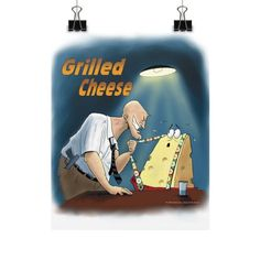 """WordPlay """"Grilled Cheese"""" Vertical Fine Art Prints (Posters) designed by Neal Fox & Ron Kule"""