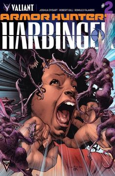 Armor Hunters: Harbinger (2014) #2: Under siege…and out of control! The Armor Hunters have decimated a major metropolis, and the battle to save the survivors still rages. In the midst of the devastation, the volatile team of Harbinger Foundation escapees called Generation Zero are about to stumble headlong into an insidious alien counteroffensive — When push comes to shove, can this group of immensely powerful temperamental teenagers be trusted to repel the Armor Hunters' second wave?