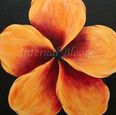 "Yellow Wildflower 20"" x 20""  Acrylic on canvas  www.internalbloom.com"