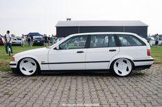 Nice white non-M BMW e36 touring on culture classic Kellener K Sport wheels