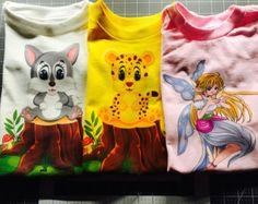 4T Toddler Shirts, Set of 3 Lot, Toddler Tee, 4T Shirts, Fairy, Tiger, Kitty,  Gift Set, 4 Year Old, T-Shirts, Girls Shirts, Girls