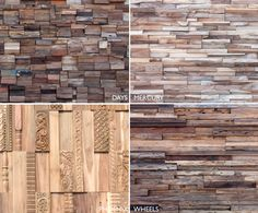 Scrap wood into architectural wall cladding by Wonderwall Studios