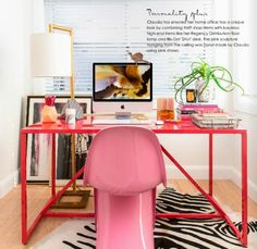 Home Inspo: Bright PINK Office   for urban women   urban and travel guide