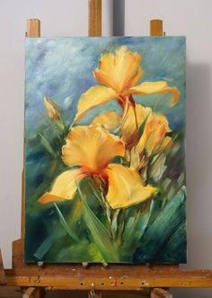 As a child, I fell in love with art when I attended the drawing classes at the Saint Louis Art Museum. I also studied at the Art Students' League in New York City. Iris Painting, Oil Painting Flowers, Watercolor Flowers, Watercolor Paintings, Knife Painting, Painting Abstract, Acrylic Flowers, Abstract Flowers, Acrylic Art