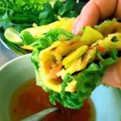 Ostersonntagmenü – Küchenereignisse Banh Xeo, Vietnam, Cantaloupe, Fruit, Vegetables, Wok, Ethnic Recipes, Dips, Red Chili