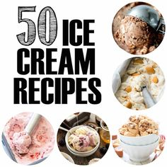 50 Ice Cream Recipes High Heels And - Sorbet, Kitchenaid Ice Cream Maker, Parfait, Kitchen Aid Ice Cream, Salted Caramel Ice Cream, Twix Ice Cream, Delicious Desserts, Dessert Recipes, Meals