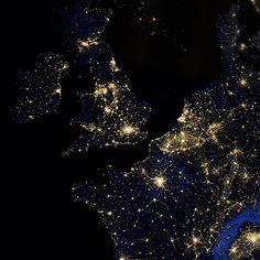 UK at night