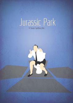 Jurassic Par minimalist movie poster