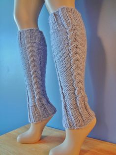 Hand Knit Cable Leg Warmers by SpindleCityKnits on Etsy, $35.00